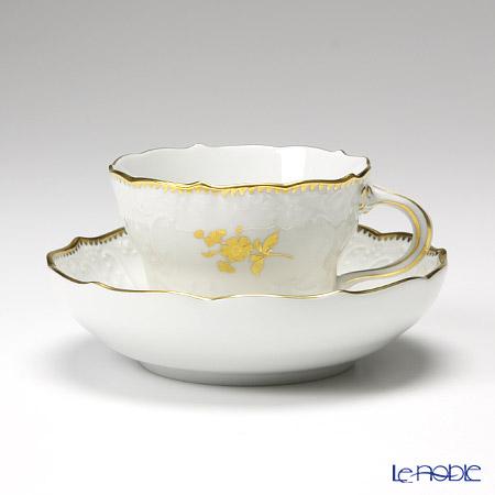 マイセン(Meissen) 金色の花 233823/03582 コーヒーカップ&ソーサー 200cc