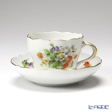 マイセン(Meissen) 果物文様 240210/00582コーヒーカップ&ソーサー 200cc イチゴ