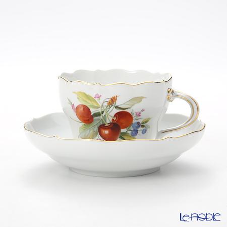 マイセン(Meissen) 果物文様 240210/00582 コーヒーカップ&ソーサー 200cc チェリー