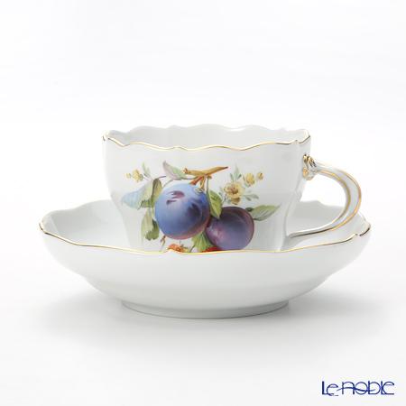 マイセン(Meissen) 果物文様 240210/00582 コーヒーカップ&ソーサー 200cc プルーン