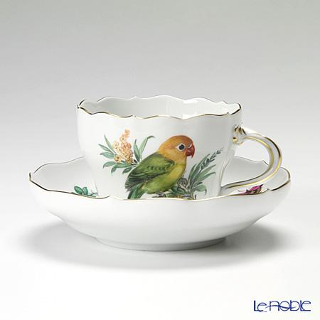 マイセン(Meissen) ビンテージバード 26c054/00582 コーヒーカップ&ソーサー 200cc インコ