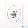 Meissen 'Bird - Kingfisher' 260110/53N32 Wall Plate / Plaque 14.7x17.7cm