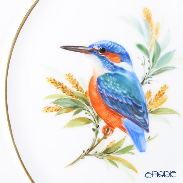 マイセン(Meissen) 陶板 鳥 260110/53n32カワセミ 18×15cm