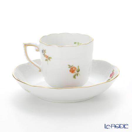 ヘレンド プティットローズブーケ PBR-1 00707-0-00モカカップ&ソーサー 150cc(ピンク)