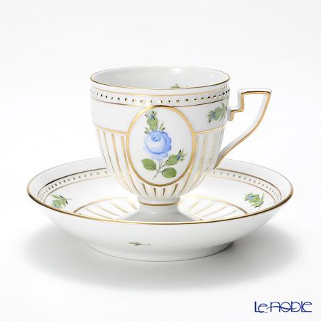 ヘレンド プティットローズ ブルー PRB 04467-0-00 アンピールカップ&ソーサー
