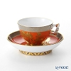 Herend Chrysanthemum / Chrysanteme d'Or CDO / 03371-0-21 Mocha Cup & Saucer (Mandarin handle / openwork) 100ml