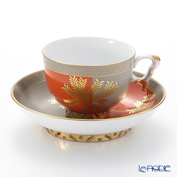 ヘレンド 羊歯文様金彩 FUG・03364-0-21 ラージカップ&ソーサー