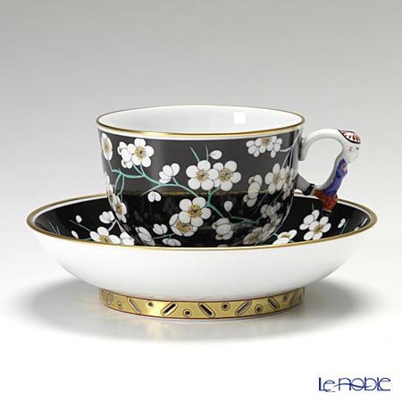 ヘレンド 黒地白梅 PFNB 03364-0-21 ラージカップ&ソーサー