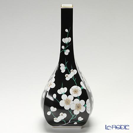 Herend Prunier famille noir blanc Vase, PFNB-GR 07055-0-00