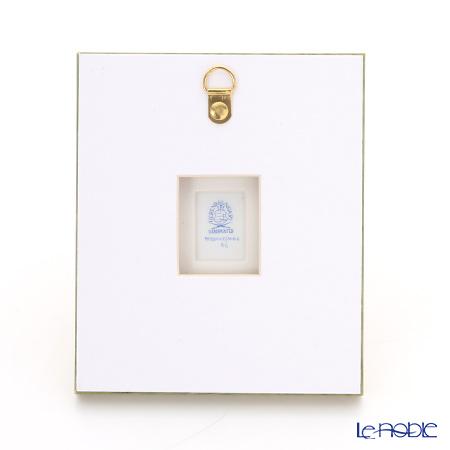ヘレンド MID-6 08193-0-00陶板(花と昆虫) 4.5×3.5cm