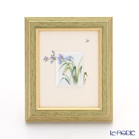 ヘレンド MID-6 08193-0-00 陶板(花と昆虫) 4.5×3.5cm
