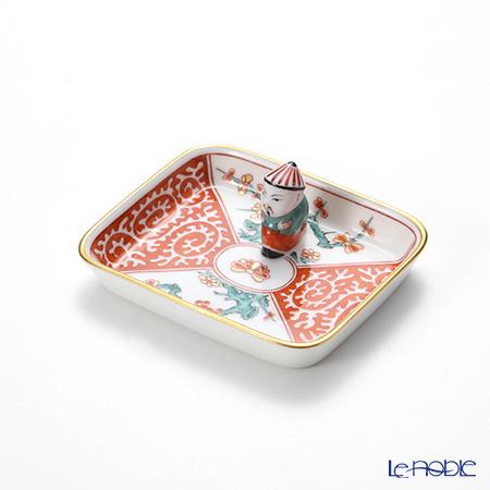 Herend 'Style Kakiemon' SKA 07733-0-21 Rectangular Tray with Mandarin 8x6.5cm