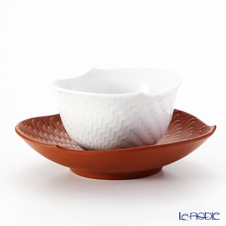マイセン(Meissen) 波の戯れホワイト 29620/85759スモールカップ 8.5cm(ソーサー付)