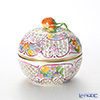 Herend 'Multicolor Flower' C 06213-0-11 Openwork Ball Box (Strawberry knob) H12cm