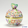 Herend 'Multicolor Flower' C2 06215-0-17 Openwork Ball Box (Butterfly knob) H9.5cm