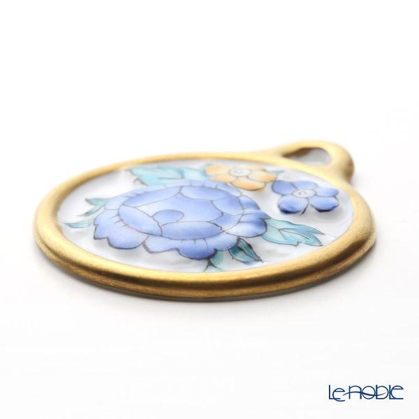 ヘレンド ペンダントトップ C3 08073-0-00フラワーラウンドブルー 4cm