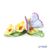 Herend 'Butterfly on Flowers' C 09316-0-00 Figurine H3.5cm
