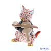 Herend figurines VH 05087-0-00 CAT and fiddle 7 cm Orange