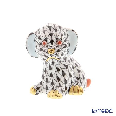 ヘレンド人形 05219-0-00 VHN イヌ 5cm ブラック
