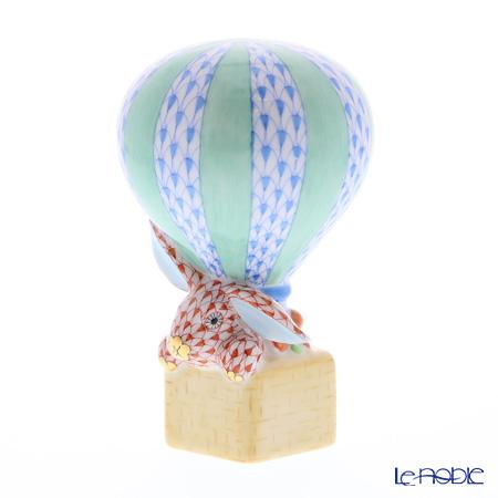 ヘレンド人形 05241-0-00 ウサギと熱気球 9cm