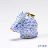 Herend 'Blue Fish scale / Vieux Herend' VHB 05339-0-47 Sitting RabbitPendant Top H2.5cm
