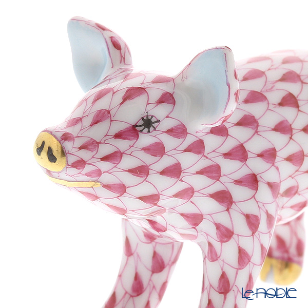 ヘレンド人形 05352-0-00VHP ブタ ピンク