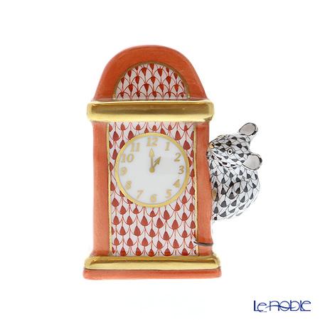 ヘレンド人形 05387-0-00 VH-VHNM ネズミと時計 7.5cm