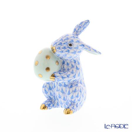 ヘレンド人形 05436-0-00 VHB イースターバニー 6cm ブルー