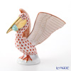 Herend figurines VHM+VHVM 05462-0-00 Fish and Pelican 9.5 cm