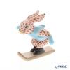 Herend figurines VH 05564-0-00 Rabbit (ski)7.5cm