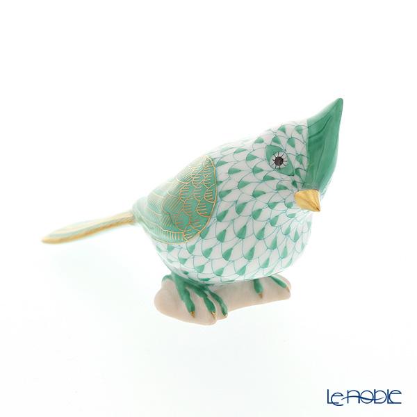 ヘレンド人形 VHVM 05639-0-00 トリ(エボシガラ) グリーン 6cm