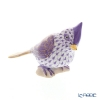 Herend figurines VHLMN 05639-0-00 Tri (tufted Titmouse) lilac 6 cm