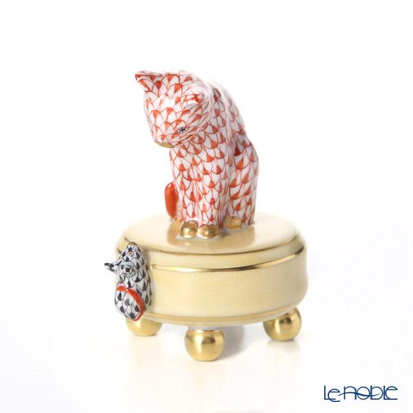 ヘレンド人形 05867-0-00 VH+VHN ネズミとネコ