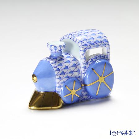 ヘレンド ファンタジー VHB 15081-0-00 蒸気機関車 5.5cm ブルー