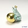 ヘレンド人形 15369-0-00VHV カエルの王様 4cm グリーン