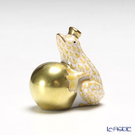 ヘレンド人形 15369-0-00VHJ カエルの王様 4cm イエロー