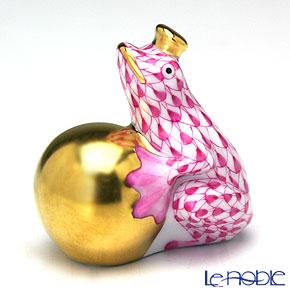 ヘレンド人形 15369-0-00 VHP カエルの王様 4cm ピンク