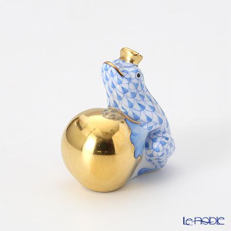 ヘレンド人形 15369-0-03 VHB カエルの王様 4cm ブルー