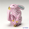 Herend 'Pink Fish scale / Vieux Herend' VHP 15387-0-00 Figurine - Rabbit H7cm