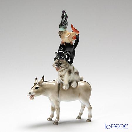 ヘレンド人形 15443-0-00 CD ブレーメンの音楽隊