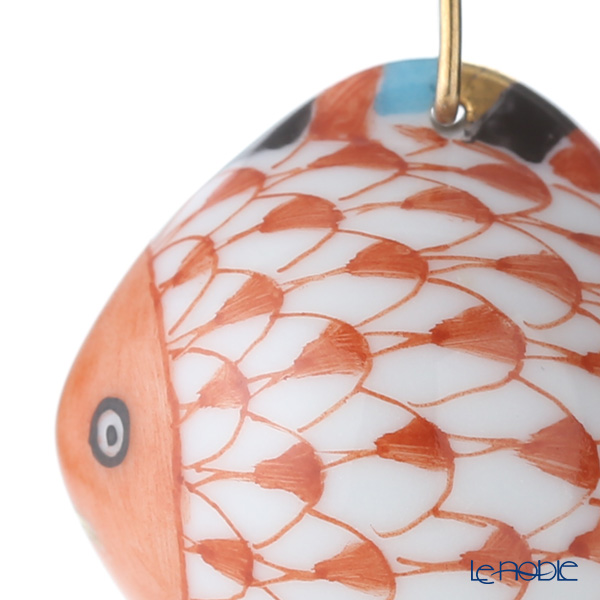 Herend 'Red Fish scale / Vieux Herend' VH 15527-0-47 Fish Pendant Top 2cm