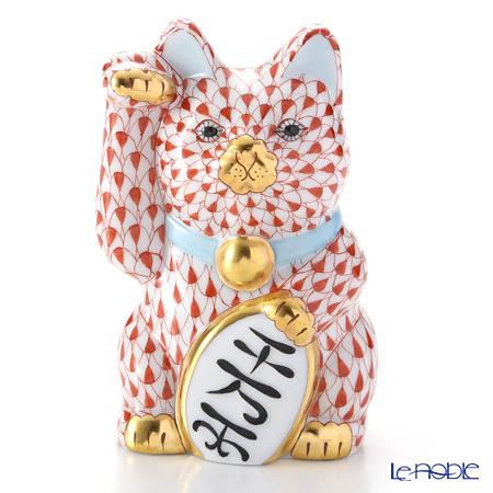 ヘレンド人形 15578-0-00 VH 招き猫千両箱大レッド