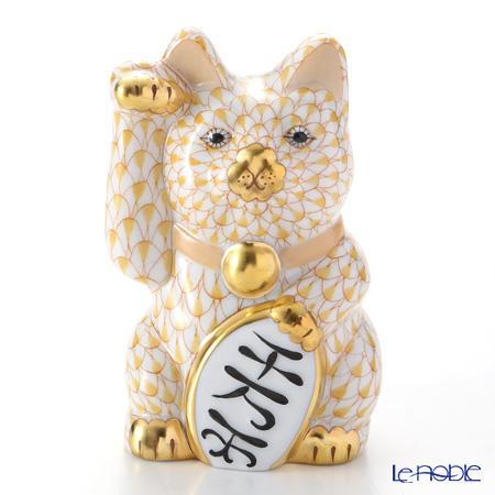 ヘレンド人形 15578-0-00 VHJ 招き猫千両箱大イエロー