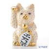 ヘレンド人形 15578-0-00VHJ 招き猫千両箱大イエロー