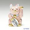ヘレンド人形 15580VH 招き猫 開運 大 レッド