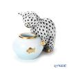 ヘレンド人形 VHNMネコと金魚鉢 15710-0-00
