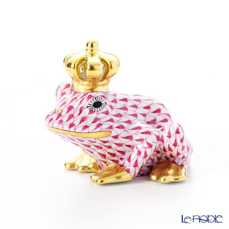 ヘレンド ファンタジー VHP 015817-0-91 カエルのプリンス 6.5cm ピンク