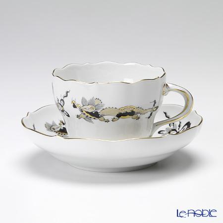 マイセン(Meissen) ドラゴン ブラック 320010/00582 コーヒーカップ&ソーサー 200cc