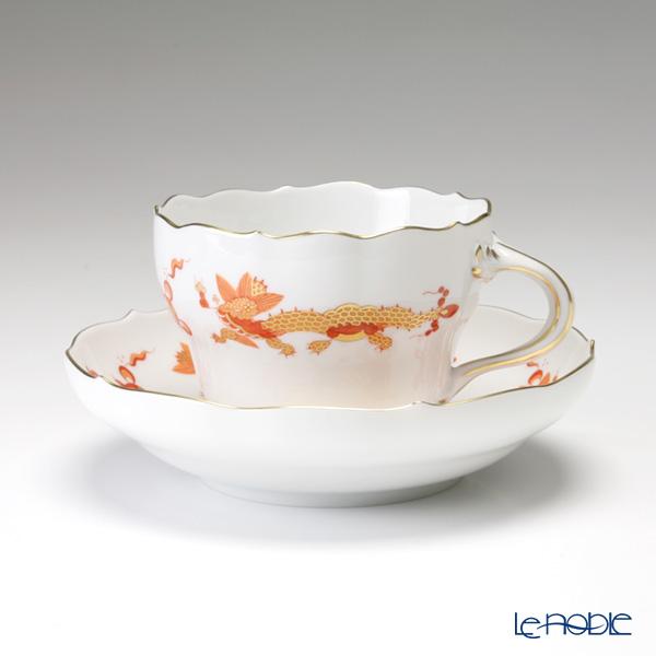 マイセン(Meissen) ドラゴン オレンジ 0320510/00582 コーヒーカップ&ソーサー 200cc