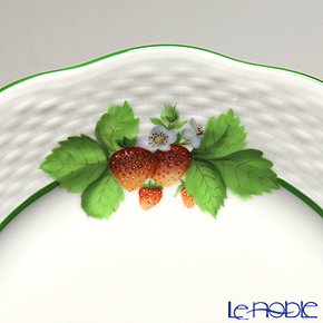 Herend 'Berried Fruits - Strawberry / Bacci Fere' BAC-1 00517-0-00 Plate 19cm